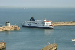 'Pride of Canterbury', P&O Cross Channel Ferry, entering Dover Harbour, Dover