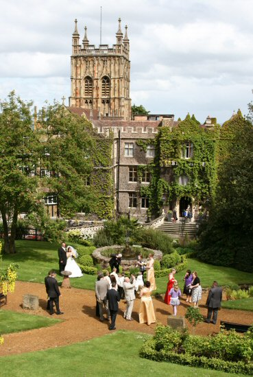 Wedding, Priory Church and Abbey Hotel, from Belle Vue Terrace, Great Malvern