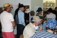 Queuing for refreshments, Bridport Hat Festival, 2012, Bridport