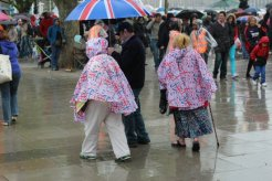 Rainy revellers, Queen's Diamond Jubilee, Thames Pageant