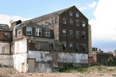 Remains of the Royal Doulton factory, Nile Street, Burslem, Stoke-on-Trent