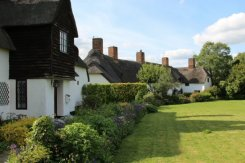 Thatched cottages, Village Green, Ardeley