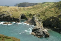 The Haven, from Tintagel Castle, Tintagel