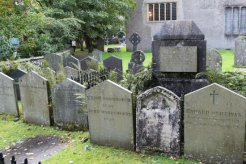 The Wordsworth Family Graves, St. Oswald's Churchyard, Grasmere