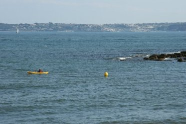 Tor Bay and Brixham, from Livermead Beach, Torquay