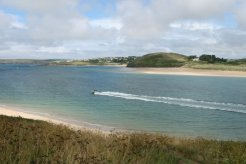 Trebetherick and Brae Hill, across Camel Estuary, Padstow
