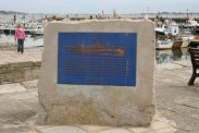 Plaque, commemorating United States Coast Guard Normandy Landings 1944. The Quay, Poole