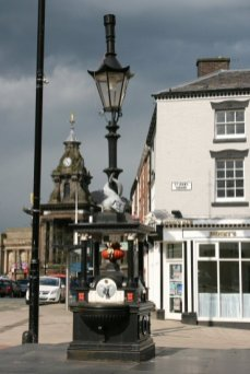 Victorian drinking fountain, Fountain Square, Burslem, Stoke-on-Trent
