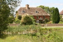 Dovecote Cottage and village pond, Frampton on Severn