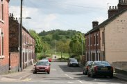 Wayte Street and Central Forest Park, from Portland Street, Hanley, Stoke-on-Trent