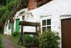Restored well, outside the lower Rock Houses, Holy Austin Rock, Kinver Edge