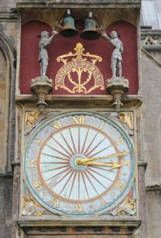 """Wells Cathedral Clock, """"Nequid Pereat"""", meaning, """"Let Nothing Perish"""". Wells"""