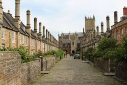 Wells Cathedral, from Vicars' Close, Wells