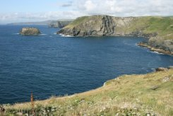 Willapark and The Sisters, from Barras Nose, Tintagel