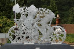 2012 Cycle Race Sculpture, A24 road, Dorking. Women's Olympic Road Cycling Road Race, 2012