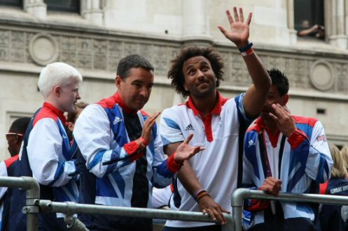 5 a-side Football and Goalball. Olympic and Paralympic Victory Parade 2012