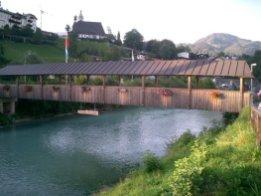 Bridge over River Ache, Berchtesgaden