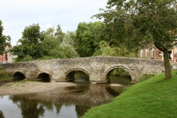 Clun Bridge, over River Clun, Clun