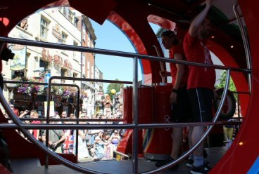 Coca-Cola promotional vehicle. Olympic Torch Relay, Richmond 2012