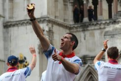 Etienne Stott, Canoeing. Olympic and Paralympic Victory Parade 2012