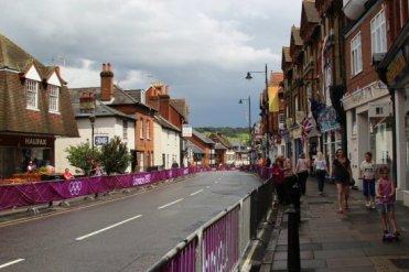 High Street, Dorking. Women's Olympic Road Cycling Road Race, 2012