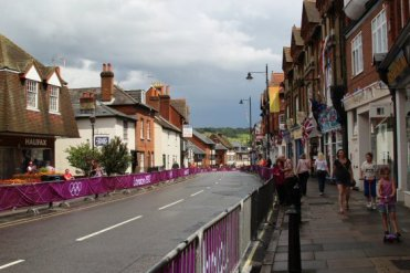 High Street, Dorking. Women's Olympic Road Cycling Road Race, 2012