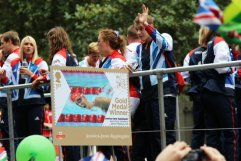 Jessica-Jane Applegate, Swimming float. Olympic and Paralympic Victory Parade 2012