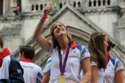 Katherine Grainger, Women's Rowing, Double Sculls. Olympic and Paralympic Victory Parade 2012