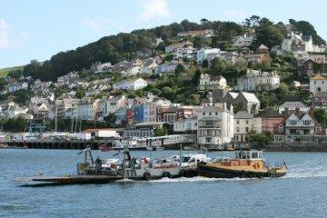 Lower Car Ferry, leaving Kingswear for Dartmouth