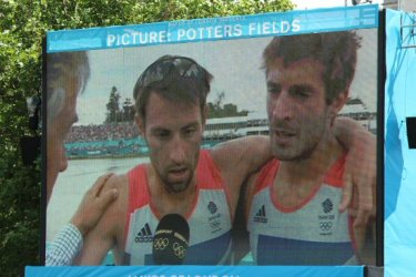 Mark Hunter and Zac Purchase, Lightweight Men's Double Sculls, Potters Fields. London 2012 Olympic Games