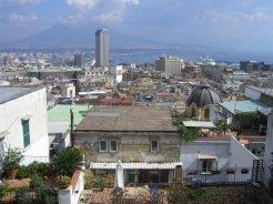 Naples and Vesuvius, from Corso Vittorio Emanuelle