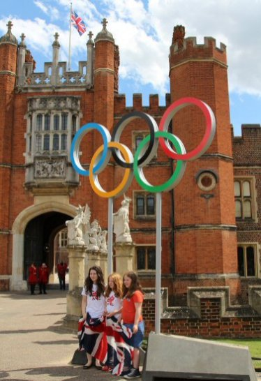 Olympic Rings, Hampton Court Palace, Men's Olympic Road Cycling Road Race, 2012