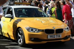 Olympic Torch Relay car. Olympic Torch Relay, Richmond 2012