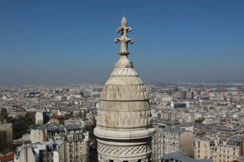 Pinnacle of small Dome, Sacre-Coeur, Montmartre, Paris