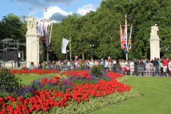 Queen Victoria Memorial Gardens, Buckingham Palace, Men's 20K Race Walk. London 2012 Olympic Games