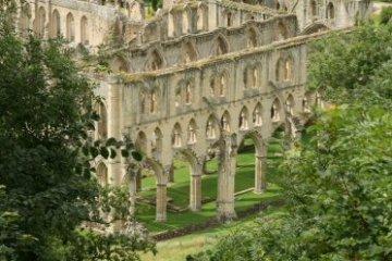Rievaulx Abbey, from Rievaulx Terrace