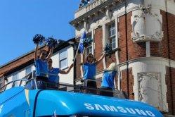 Samsung Cheerleaders. Olympic Torch Relay, Richmond 2012