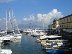 Santa Lucia Harbour and Vesuvius, Naples