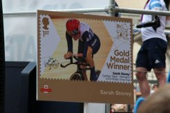 Sarah Storey, Cycling float. Olympic and Paralympic Victory Parade 2012