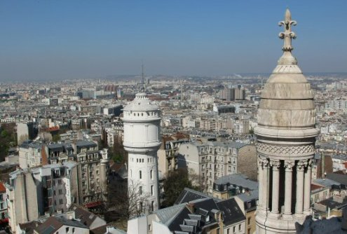 Small Dome and Water Tower, Sacre-Coeur, Montmartre, Paris