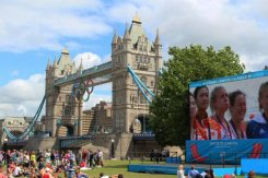 Sophie Hosking and Katherine Copeland, Lightweight Double Sculls, Tower Bridge. London 2012 Olympic Games