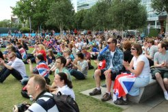 Spectators, Live Site, Potters Fields. London 2012 Olympic Games