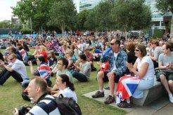 Spectators, Live Site, Potters Fields. London 2012 Olympic Games
