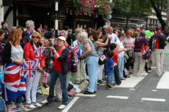 Spectators, Strand. Olympic and Paralympic Victory Parade 2012