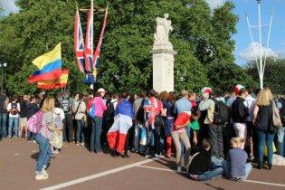 Spectators, The Mall, Men's 20K Race Walk. London 2012 Olympic Games