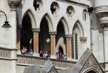 Spectators, The Royal Courts of Justice. Olympic and Paralympic Victory Parade 2012