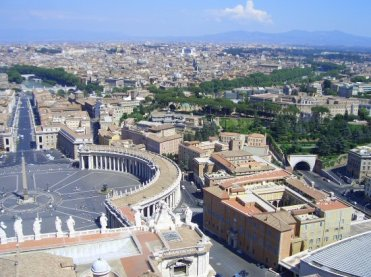 St. Peter's Square and Rome, from the Cupola of St. Peter's Basilica