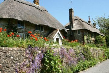 Thatched cottages, Amberley