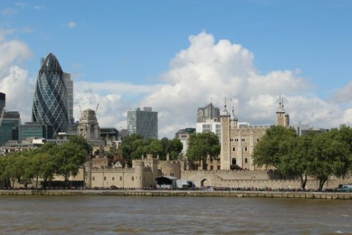 The Gherkin and Tower of London. London 2012 Olympic Games