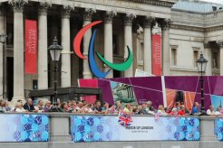 The National Gallery. Olympic and Paralympic Victory Parade 2012